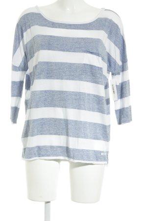 Marc O'Polo T-Shirt weiß-blau Streifenmuster Casual-Look