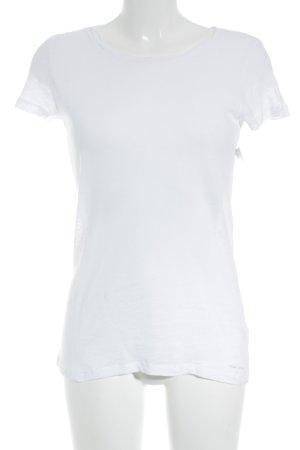 Marc O'Polo T-Shirt weiß meliert schlichter Stil