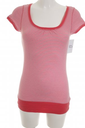 Marc O'Polo T-Shirt weiß-rot Streifenmuster Casual-Look