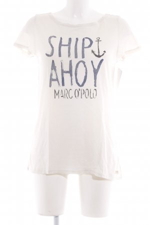 Marc O'Polo T-Shirt wollweiß Motivdruck Beach-Look