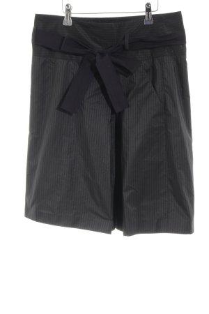 Marc O'Polo Falda de tafetán negro-gris claro estampado a rayas