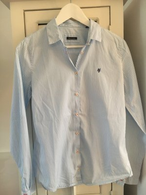 Marc O'Polo taillierte Hemdbluse hellblau-weiß gestreift Gr. 38