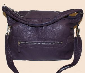 Marc O'Polo Pouch Bag brown violet leather