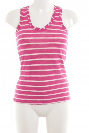 Marc O'Polo Trägertop pink-weiß Streifenmuster Casual-Look