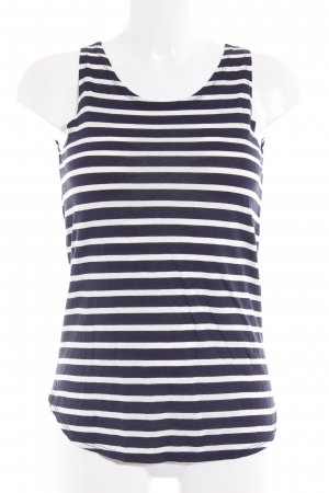 Marc O'Polo Strappy Top white-dark blue striped pattern casual look