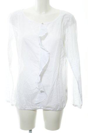 Marc O'Polo Transparenz-Bluse weiß Transparenz-Optik