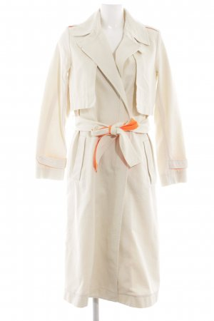 Marc O'Polo Trenchcoat creme-neonorange meliert Casual-Look