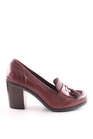 Marc O'Polo Loafers rood zakelijke stijl