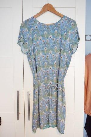 Marc O'Polo Tunika Kleid hellblau mit tollem Muster Gr. 38 NEU