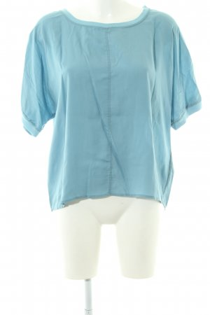 Marc O'Polo Boothalsshirt turkoois casual uitstraling