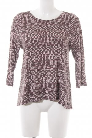 Marc O'Polo Boatneck Shirt brown abstract pattern simple style