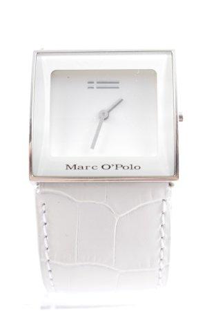 Marc O'Polo Uhr mit Lederarmband weiß-silberfarben Animalmuster Reptil-Optik