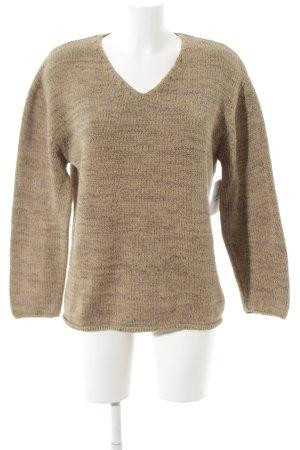 Marc O'Polo V-Ausschnitt-Pullover beige meliert Casual-Look