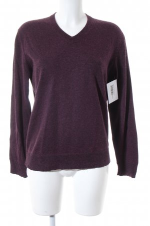 Marc O'Polo V-Ausschnitt-Pullover bordeauxrot Casual-Look