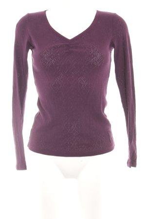 Marc O'Polo V-Ausschnitt-Pullover braunviolett Casual-Look