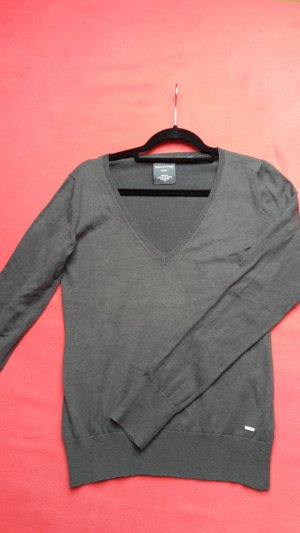 Marc O'Polo V-Neck Sweater dark grey mixture fibre