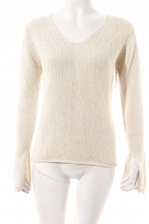Marc O'Polo V-Ausschnitt-Pullover hellbeige Casual-Look