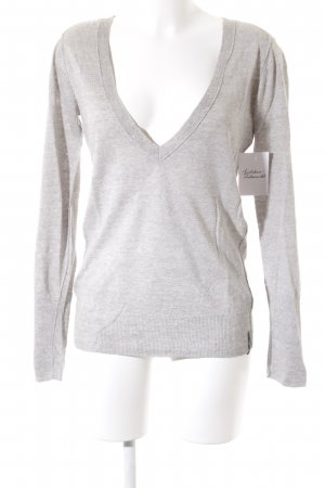 Marc O'Polo V-Neck Sweater light grey flecked casual look