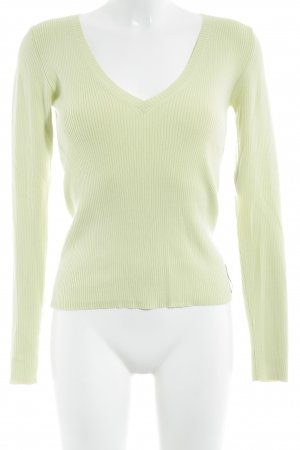 Marc O'Polo V-Ausschnitt-Pullover limettengelb Casual-Look