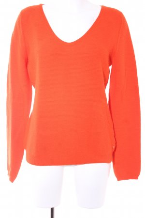 Marc O'Polo V-Ausschnitt-Pullover orange Boyfriend-Look
