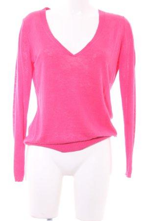 Marc O'Polo V-Ausschnitt-Pullover pink klassischer Stil