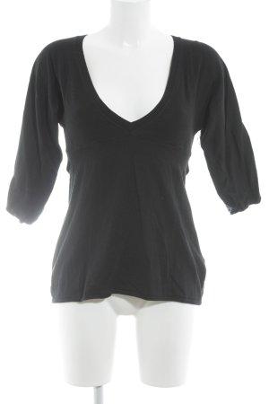Marc O'Polo V-Ausschnitt-Pullover schwarz klassischer Stil