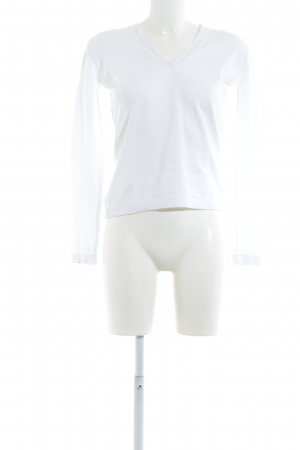 Marc O'Polo Pull col en V blanc style simple