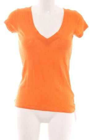 Marc O'Polo V-hals shirt licht Oranje casual uitstraling