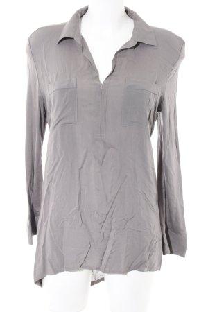 Marc O'Polo T-shirt col en V gris clair style décontracté