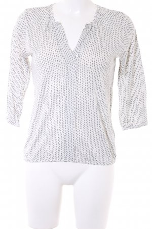 Marc O'Polo V-Neck Shirt allover print Mother-of-pearl buttons
