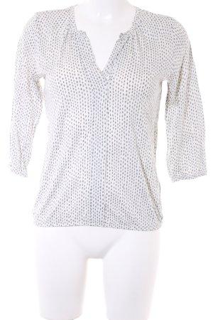 Marc O'Polo V-Ausschnitt-Shirt Allover-Druck Perlmuttknöpfe
