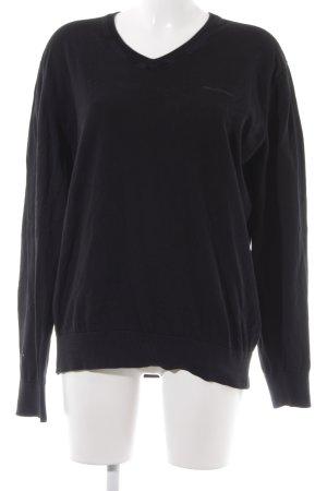 Marc O'Polo T-shirt col en V noir style décontracté