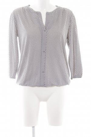 Marc O'Polo V-Ausschnitt-Shirt schwarz-weiß Punktemuster Casual-Look