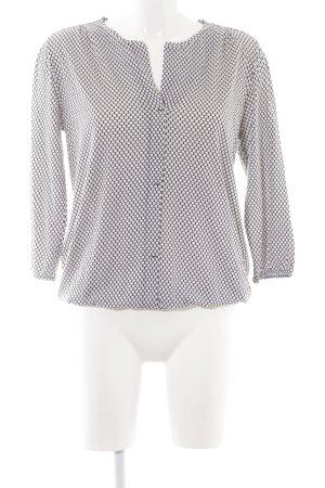 Marc O'Polo V-Neck Shirt black-white spot pattern casual look