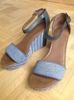 Marc O'Polo Wedges Plateau Sandalen Denim mit Leder
