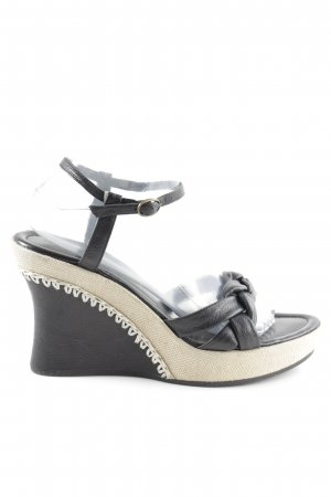 Marc O'Polo Wedges Sandaletten schwarz-creme Casual-Look