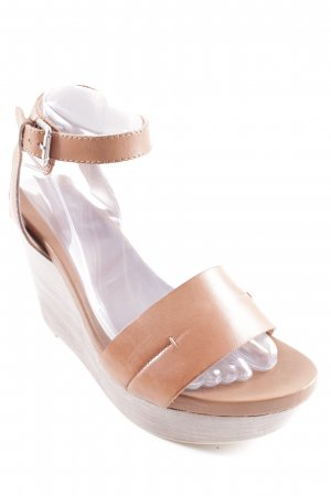 Marc O'Polo Wedges Sandaletten braun-graubraun Casual-Look