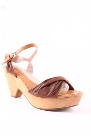 Marc O'Polo Wedges Sandaletten braun-sandbraun Beach-Look