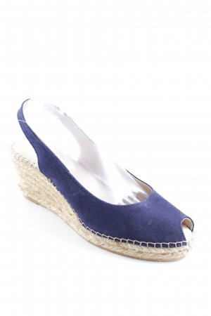 Marc O'Polo Wedge Sandals dark blue-beige casual look