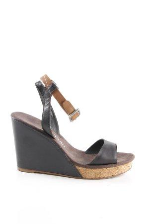 Marc O'Polo Wedges Sandaletten dunkelbraun Boho-Look