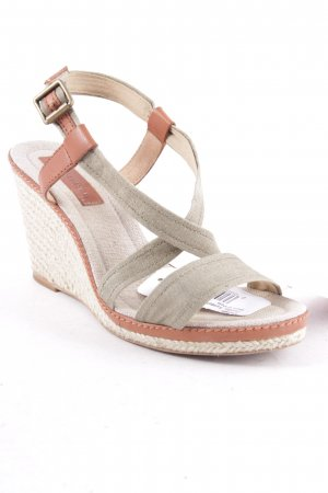 Marc O'Polo Wedges Sandaletten olivgrün Beach-Look