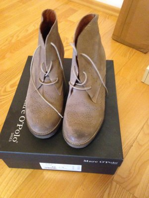 Marc O'Polo Platform Booties grey brown