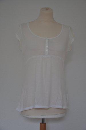MARC O'POLO weißes Kurzarm Shirt Größe S / 36