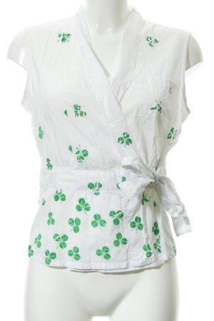 Marc O'Polo Maglietta aderente bianco-verde stile casual