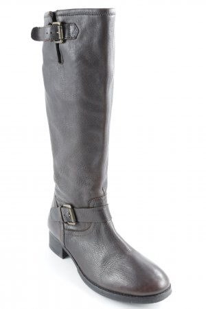 Marc O'Polo Winterstiefel dunkelbraun Country-Look