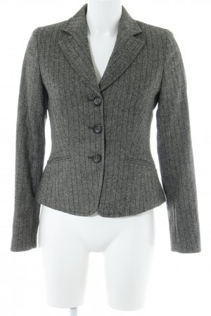 Marc O'Polo Wool Blazer grey brown-dark brown herringbone pattern casual look