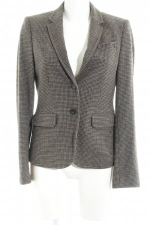 Marc O'Polo Wool Blazer grey brown-slate-gray houndstooth pattern