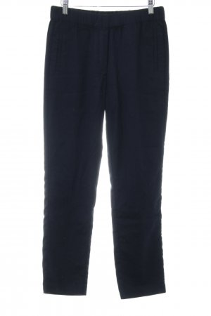 Marc O'Polo Pantalon en laine bleu foncé style décontracté