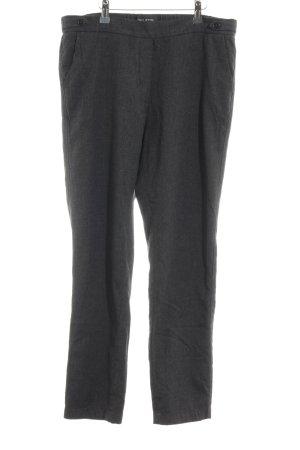 Marc O'Polo Pantalon en laine gris foncé-gris moucheté style décontracté