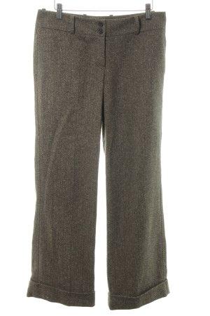 Marc O'Polo Wollen broek lichtbruin-groen-grijs zigzag patroon